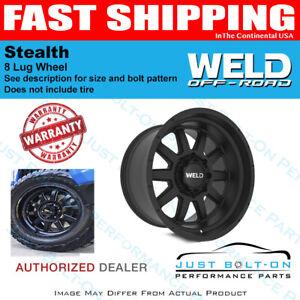 WELD 20x10 Stealth 8x180 -18 Satin Black Wheel 2011-2021 GM 2500 3500 HD Trucks