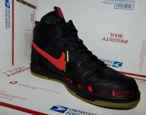 best sneakers 1fc92 84adc Image is loading Nike-Dunk-High-Premium-N7-Black-University-Red-