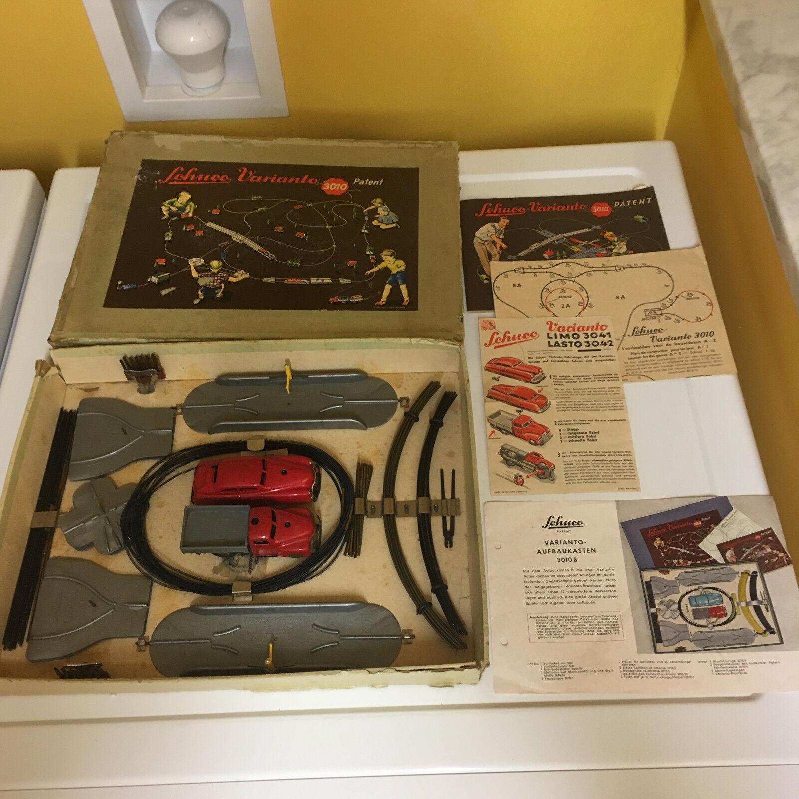Schuco VARIANTO 3010B Set Completo.. perfectamente de trabajo con su caja original