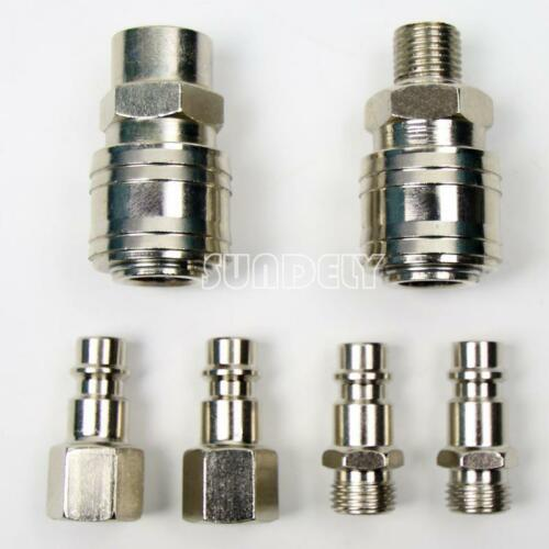 "UK 1/4"" Air Hose Quick Release Coupler Coupling Connector Fittings"