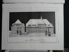 1913  Elmschenhagen bei Kiel Volksschule und Turnhalle