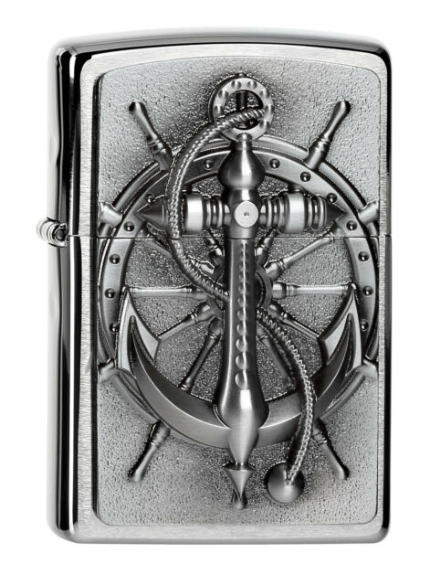 Original ZIPPO Nautic Emblem rare plated collectible awesome lighter