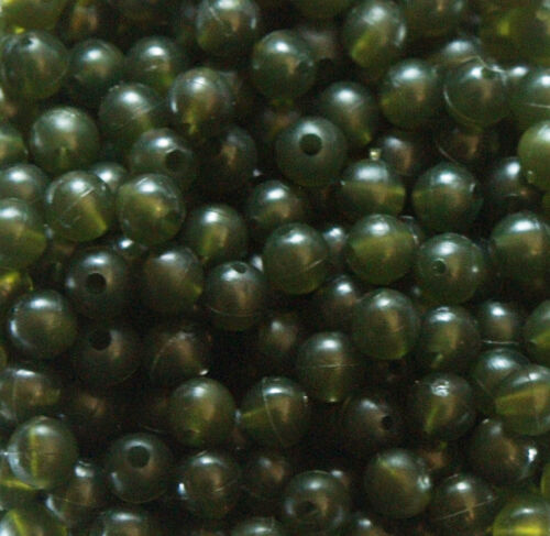 6mm Tapered Chod Beads Carp Translucent Green Brown Black Taylors Lead Lounge