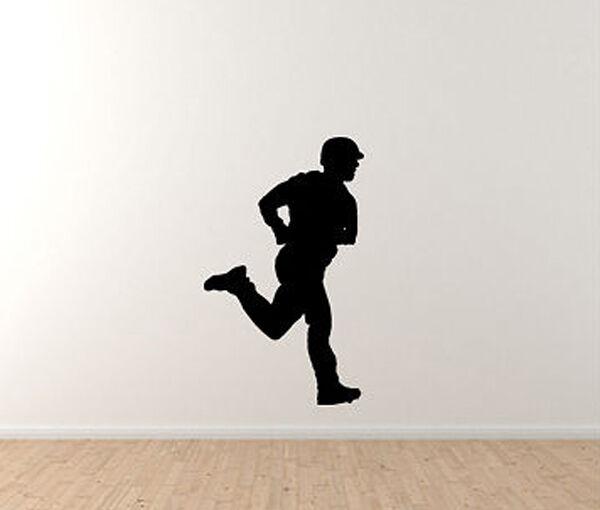 Sports Silhouette - Baseball Player Running Version 1 - Vinyl Wall Decal