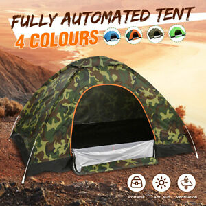 Waterproof-1-2-People-Automatic-Instant-Tent-Blue-Camping-Hiking-Portable-Tent