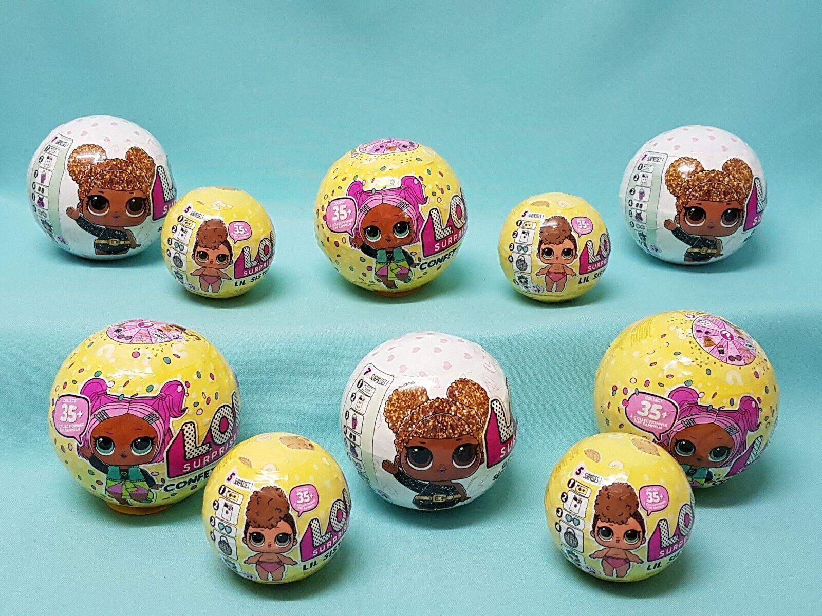 MGA L.O.L Surprise Ball aussuchen Glitter Confetti Lil Sisters LOL Puppe Pets