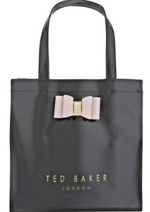 c6086ce9b83 Details about TED BAKER Black Bow Detail Small Tote Bag New With Tags