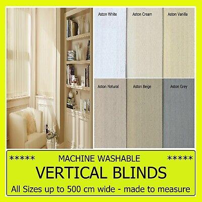 headrail /& 89mm slats ASTON VERTICAL BLINDS