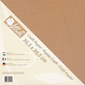 Kraft-Paper-Cardstock-Tonkarton-Bastelkarton-30-5cm-300g-m-20-Stueck-774