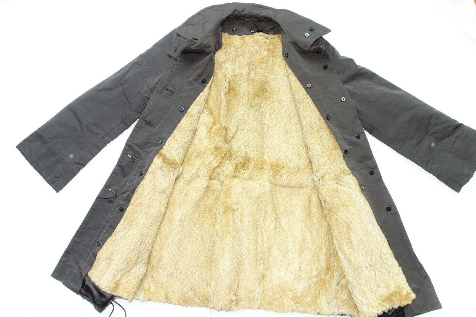 RENE LEZARD Warmer Mantel dunkel-braungrau ausköpfbares Pelzfutter 36 (38) neu