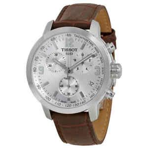 Tissot-PRC-200-Chronograph-Silver-Dial-Men-039-s-Watch-T0554171603700