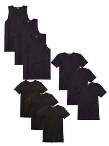 3er-Pack-Bugatti-Herren-Shirt-Unterhemd-schwarz-V-oder-Rundhals-Shirts