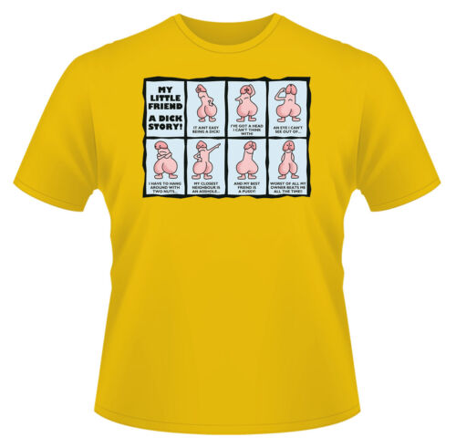 Funny Rude My Little Friend Ideal Birthday Gift or Present Men/'s T-Shirt