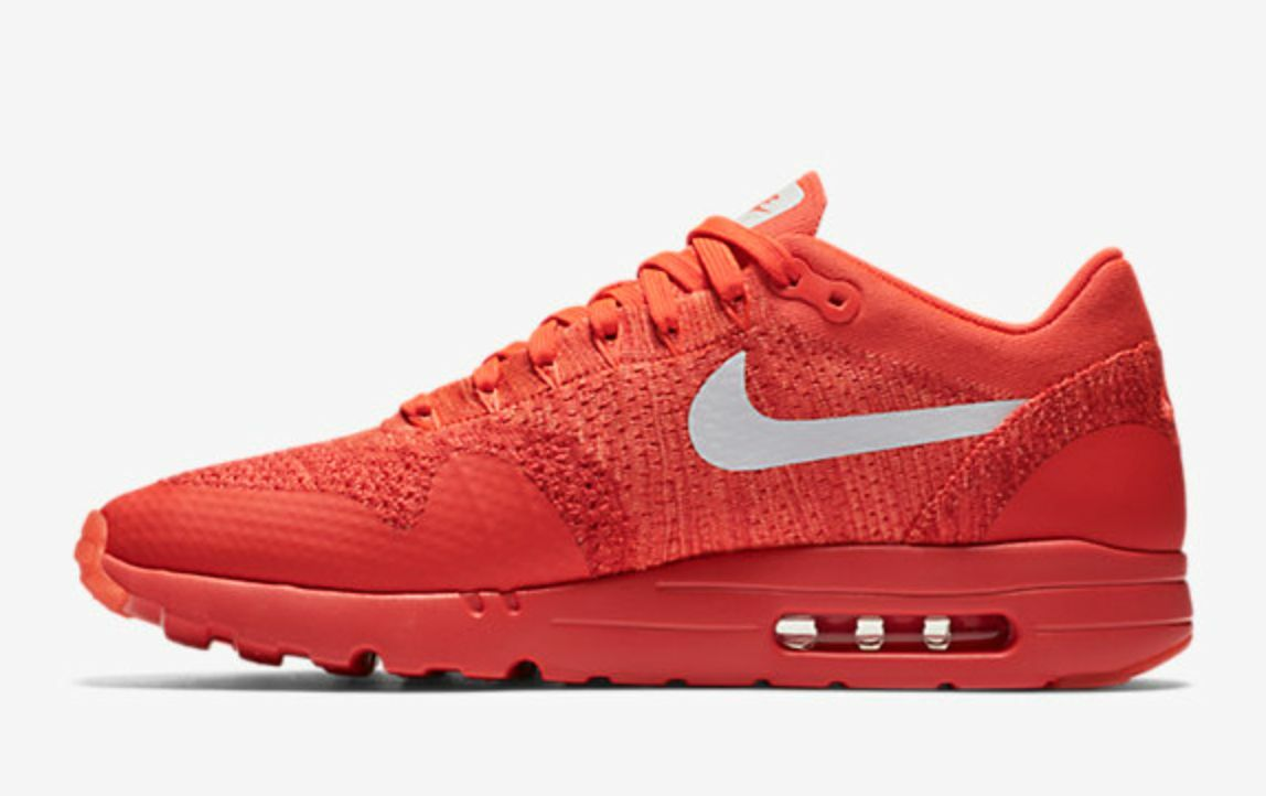 san francisco 6d419 675d3 durable service MEN S NIKE AIR MAX 1 ULTRA FLYKNIT SHOES BRIGHT CRIMSON RED  843384-601
