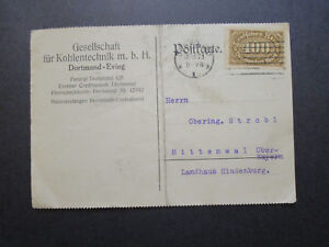 Germany-1923-Inflation-Period-Post-Card-Center-Fold-Typed-Message-Z7167
