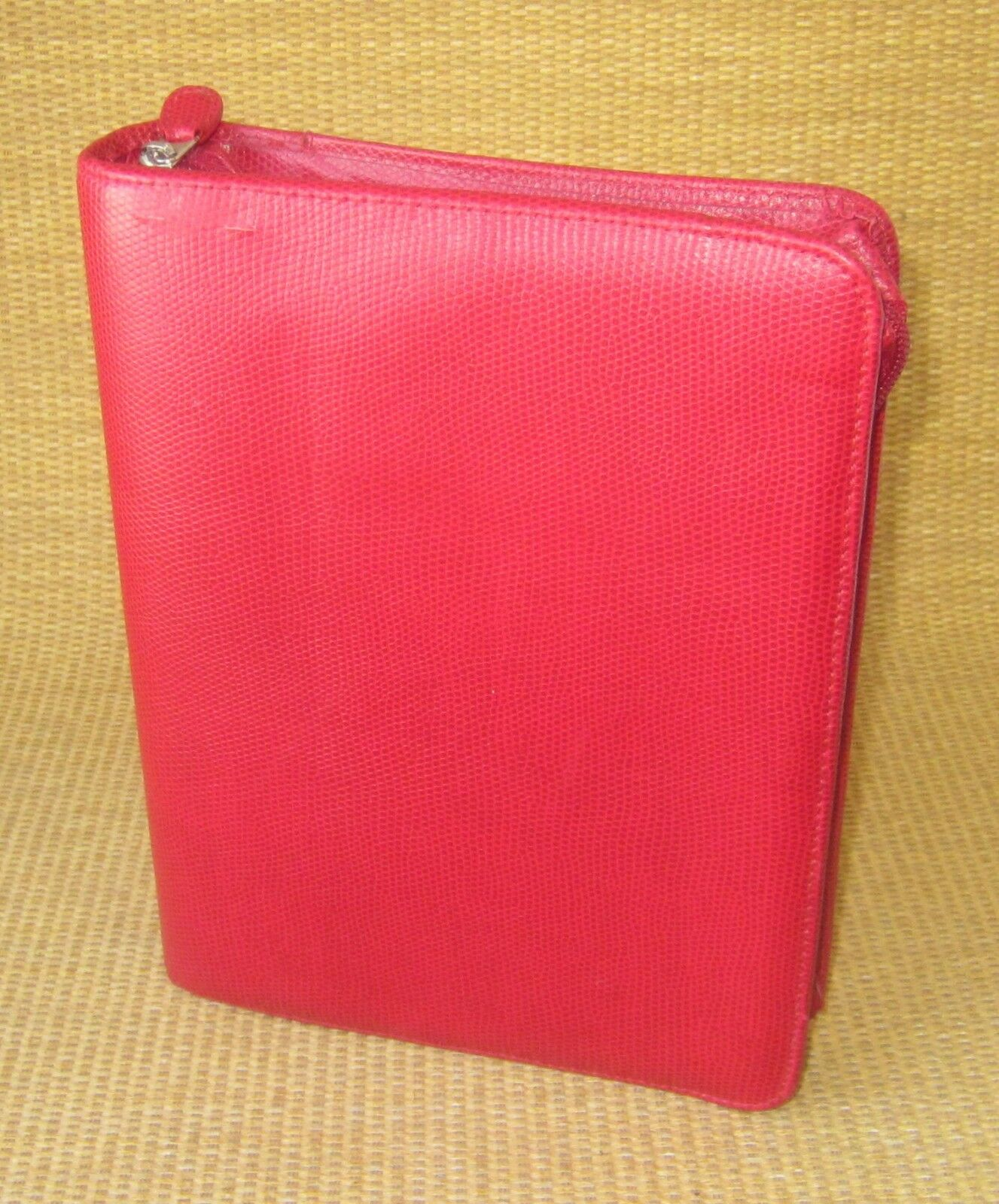 Classic 1.5  Rings   RED Sim Leather REPTILE FRANKLIN COVEY ZIP Planner Binder