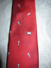 "Vintage Chippmunk Chipp red silk novelty joke riddle ""Screw Ewe"" neck tie"