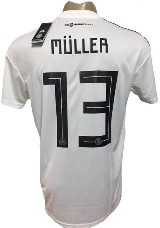 GERMANY HOME SOCCER JERSEY WORLD CUP 2018 MULLER 13