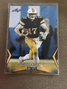 Josh Allen 2018 Leaf Draft Rookie card   Buffalo Bills