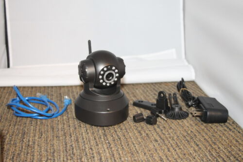 Night Vision IR IP Camera Monitor with remote viewing. Pan & Tilt Control