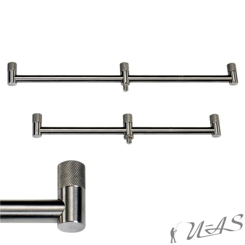 2er Set JRC Chunky Stainless 3 Rod LIGHT Segnalatore acustico bar 30 & 38 cm ACCIAIO INOX Ava