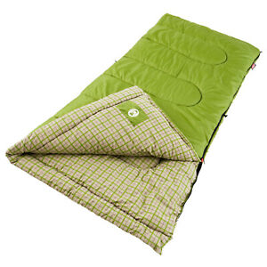 Coleman Green Valley Adult Sleeping Bag Regular Rated 50 Degrees