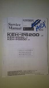 Pioneer-keh-p6200-p590-p5200-service-manual-original-repair-book-stereo-car