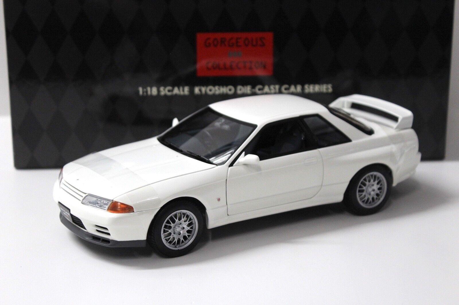 1 18 Kyosho Nissan Skyline GT-R R32 V-SPEC II white NEW bei PREMIUM-MODELCARS