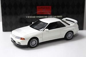 1-18-Kyosho-Nissan-Skyline-GT-R-r32-V-Spec-II-White-New-en-Premium-modelcars