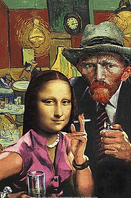 ART PRINT Art Theft Van Gogh and Mona Lisa Barry Kite