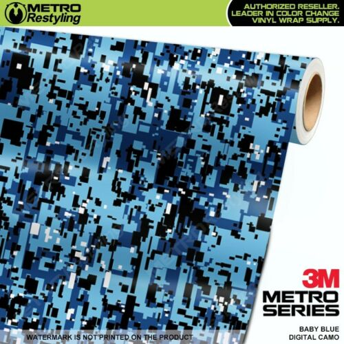 DIGITAL BABY BLUE Camouflage Vinyl Car Wrap Camo Film Decal Sheet Roll Adhesive