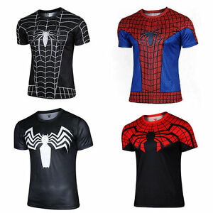 3ed332f5 The Superior Spider-Man T Shirt Black Venom Tees Sports Running ...