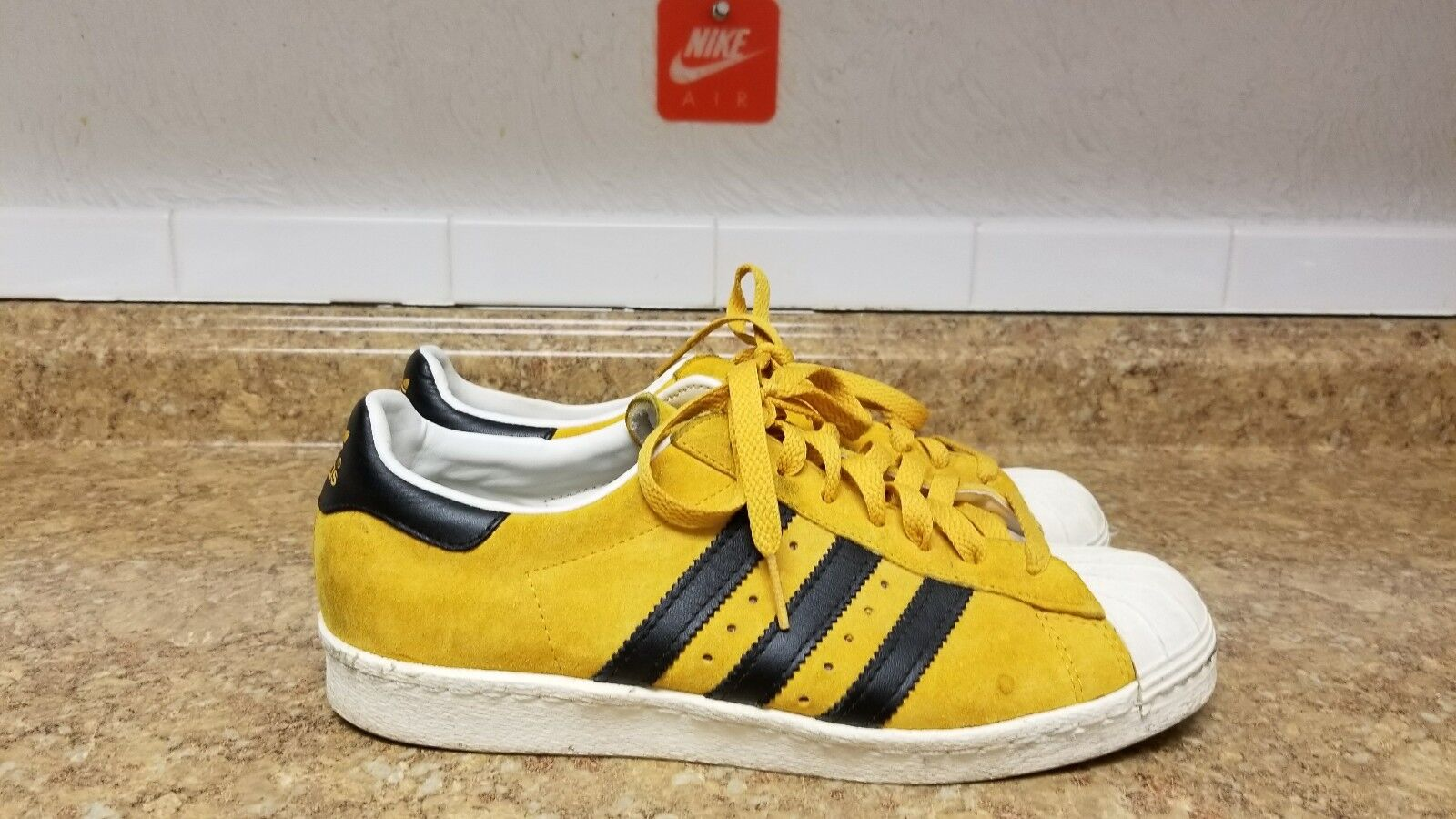 ADIDAS ORIGINALS SUPERSTAR 80s DLX SUEDE DELUXE GOLD BLACK SNAKE G61072 sz 8
