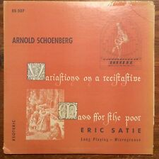 Marilyn Mason, David Randolph on Esoteric ES507: Schoenberg and Satie