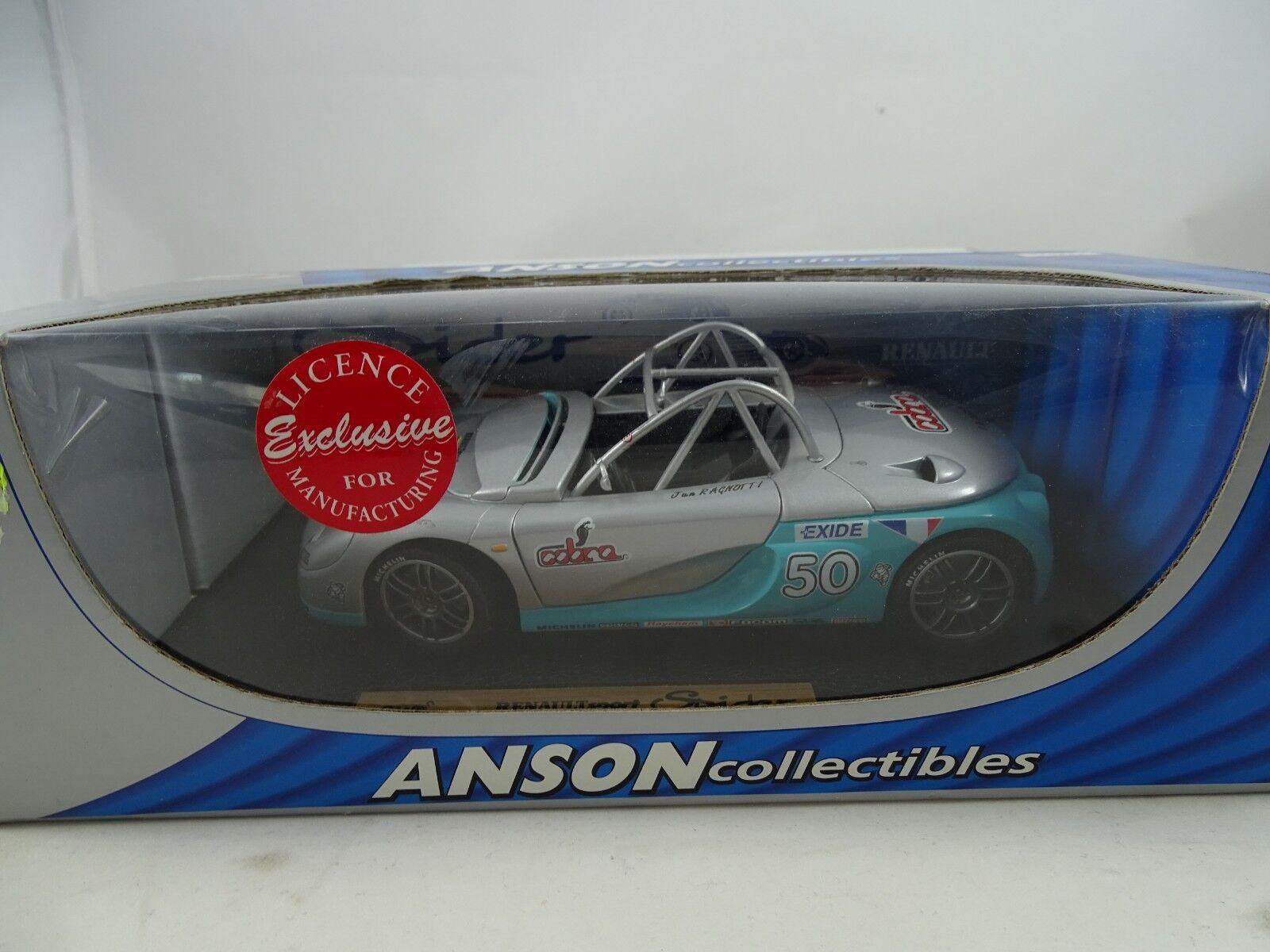 1 18 Anson  30350 Renaultsport Ragno  50 argentoo  Rarità Nuovo  Conf. Orig. §