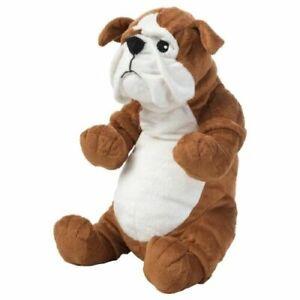 Ikea-Klappar-Dog-Bulldog-Soft-Toy-brown-plush-chein-15-034