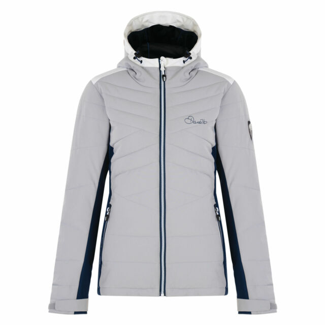 50bd2649b7 DARE 2B WOMENS ILLATION SKI JACKET SNOWBOARDING INSULATED WATERPROOF SILVER