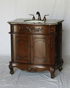 Image Is Loading 34 Inch Antique Style Single Sink Bathroom Vanity