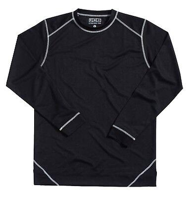 Jcb Black Thermal Base Layer Top Vest Long Sleeve Underwear 100% Polyester Warm