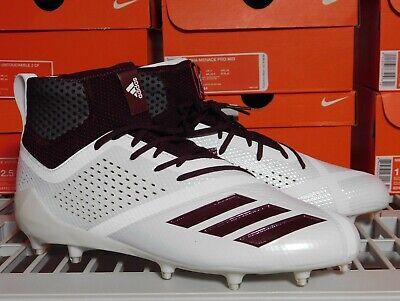 New Mens Adidas Adizero 5 Star 7.0 SK Mid Football Cleats White Marron DA9565 | eBay