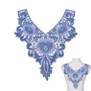 EE-EG-Embroidered-Floral-Lace-Neckline-Neck-Collar-Trim-Clothes-Sewing-Appliqu