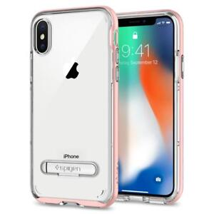 Spigen-iPhone-X-Case-Crystal-Hybrid-Rose-Gold