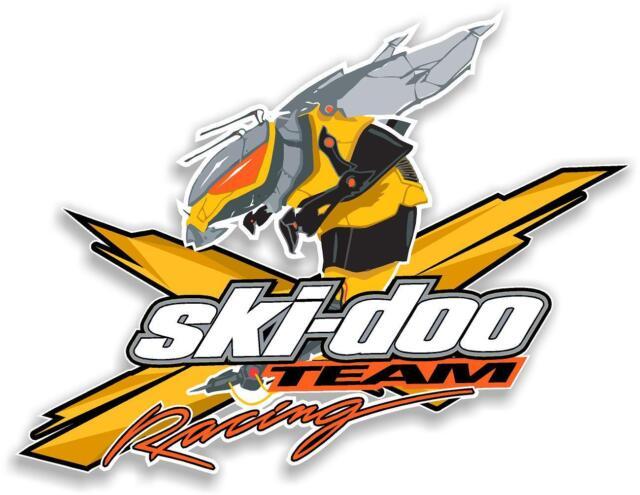 "12"" SKI-DOO SKIDOO BEE DECAL FOR WINDOW / WALL ARTIC CAT MXZ POLARIS a"