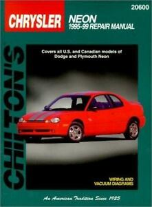 chrysler neon 1995 99 chilton s total car care repair manual rh ebay com 2002 chrysler neon owners manual chrysler neon repair manual free download
