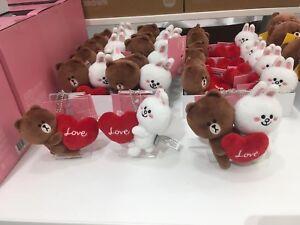 Korea-LINE-Friends-Brown-Cony-Love-Heart-13cm-Bag-Charm-Plush-Mascot-Gift