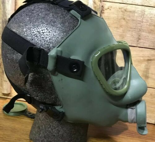 Yugoslavian Army Issue Green MC1 Gas Mask And Respirator With Adjustable Straps