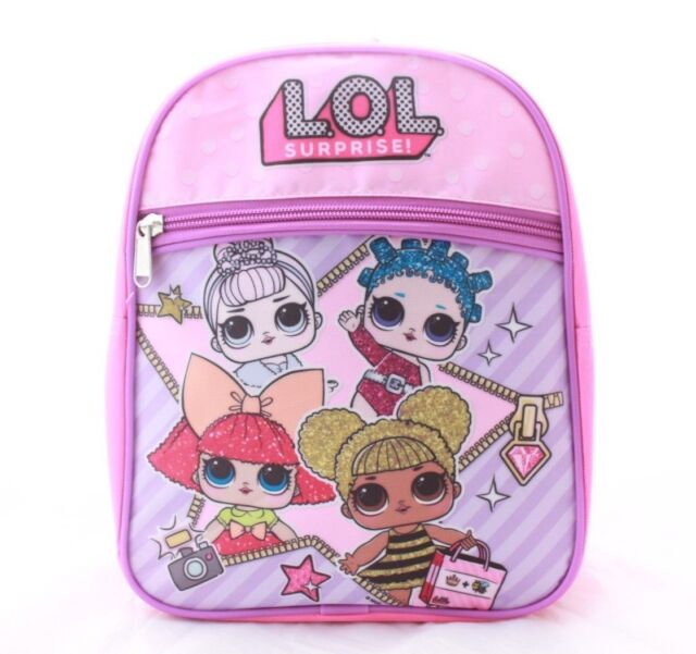 L O Surprise Lol S Kids Toddler Baby School Book Bag Backpack Doll Pink