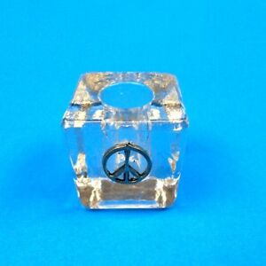 Image Is Loading Peace Sign Gl Cube Mini Candle Holder