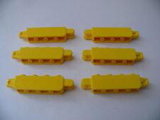 Lego 6 briques charniere jaune set 7633 7936 4888 4667 / 6 yellow locking hinge
