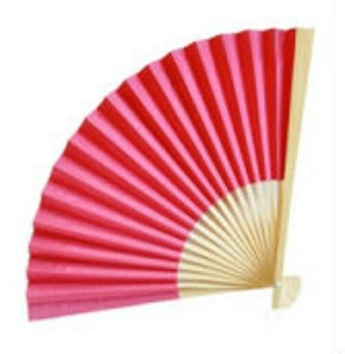 HOT PINK Paper Fan Beach Wedding Favors